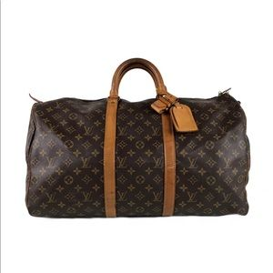 Louis Vuitton Monogram Keepall 55 Duffle Bag